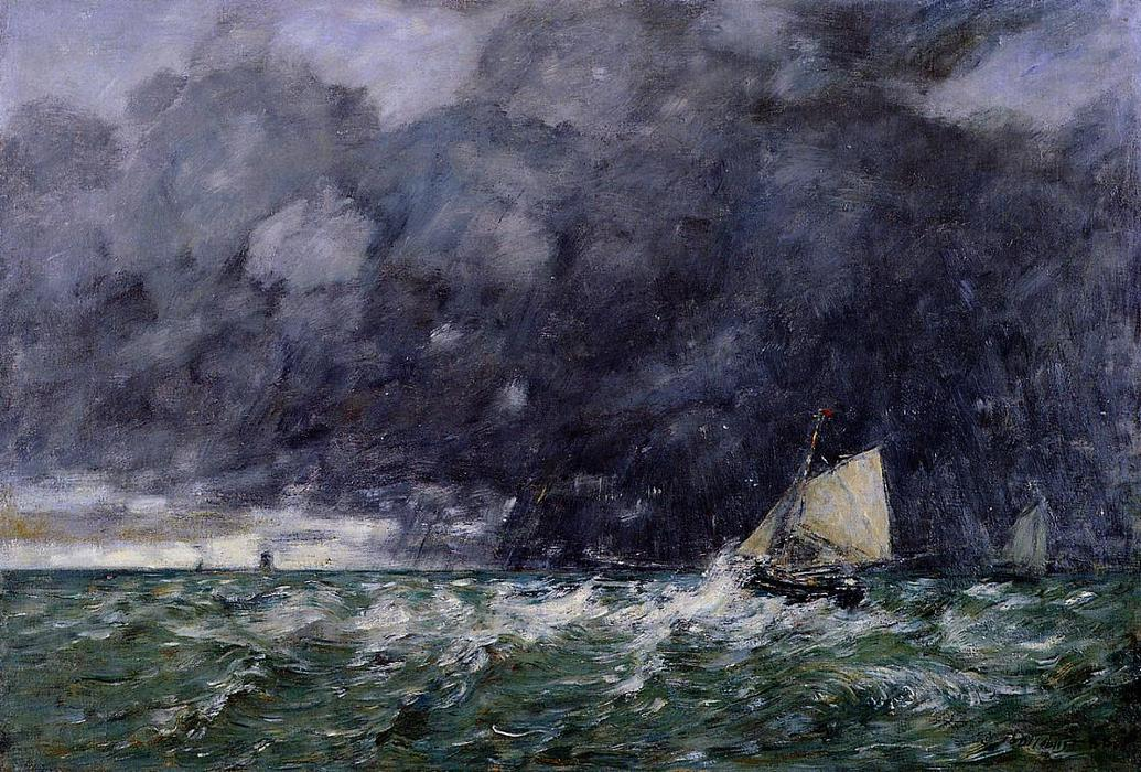 famous painting Rough Seas of Eugène Louis Boudin