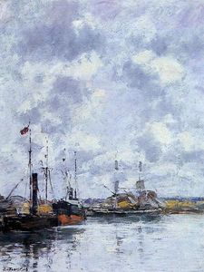 Eugène Louis Boudin - The Trouville Basin