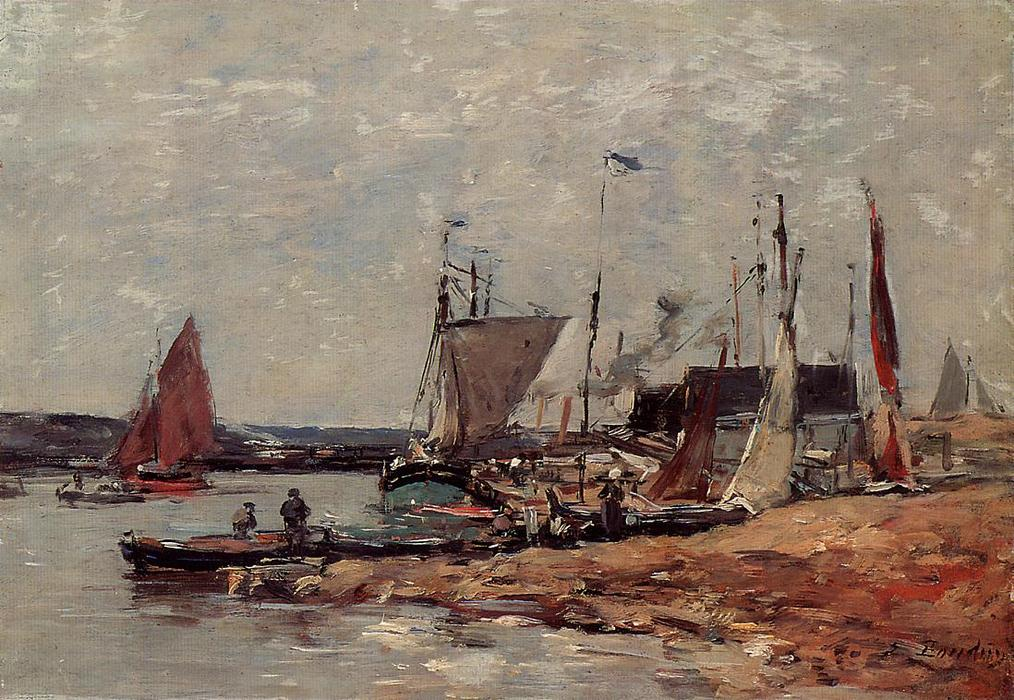 famous painting Trouville, the Port of Eugène Louis Boudin