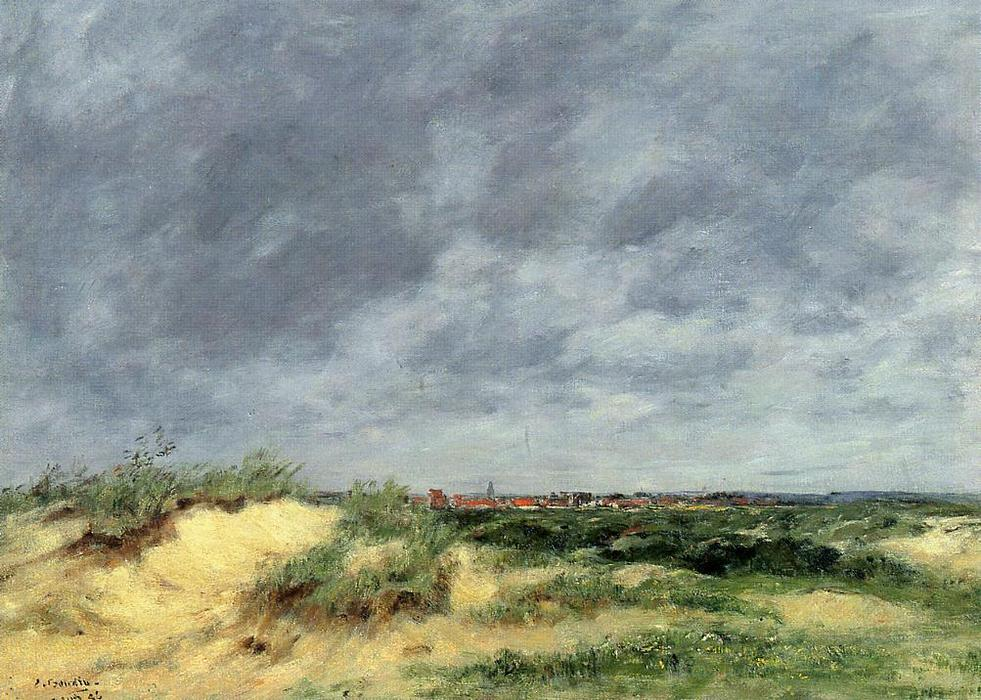 famous painting The Berck Dunes of Eugène Louis Boudin