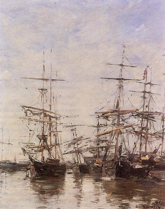famous painting The Port of Eugène Louis Boudin