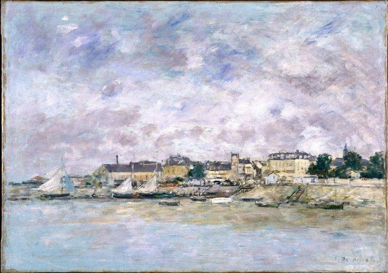 famous painting The Port, Trouville of Eugène Louis Boudin