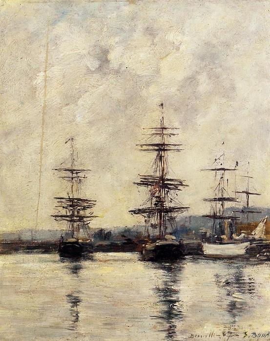 famous painting The Port, Deauville of Eugène Louis Boudin
