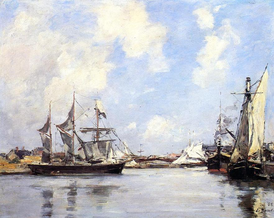 famous painting Deauville, the Port of Eugène Louis Boudin