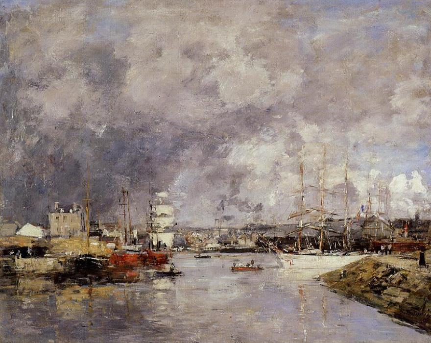famous painting The Port of Dieppe of Eugène Louis Boudin