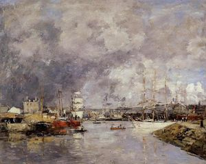 Eugène Louis Boudin - The Port of Dieppe