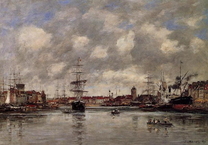 famous painting Dunkirk, the Holland Basin of Eugène Louis Boudin