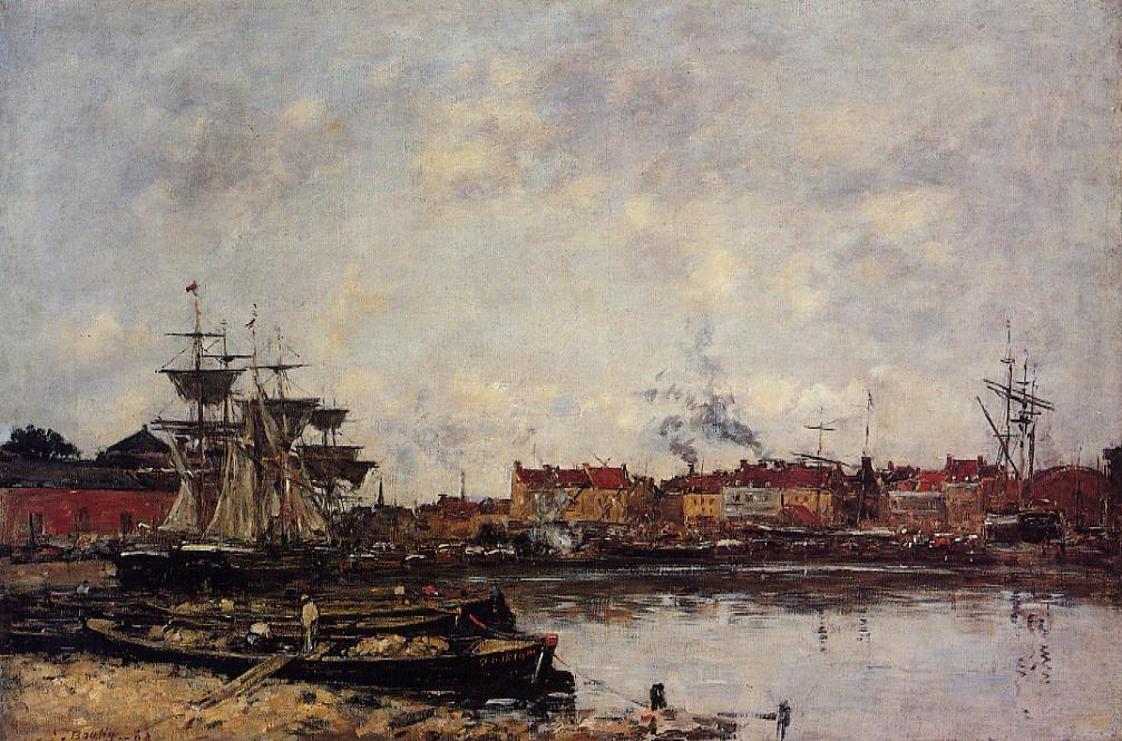famous painting Dunkirk, the Inner Port of Eugène Louis Boudin
