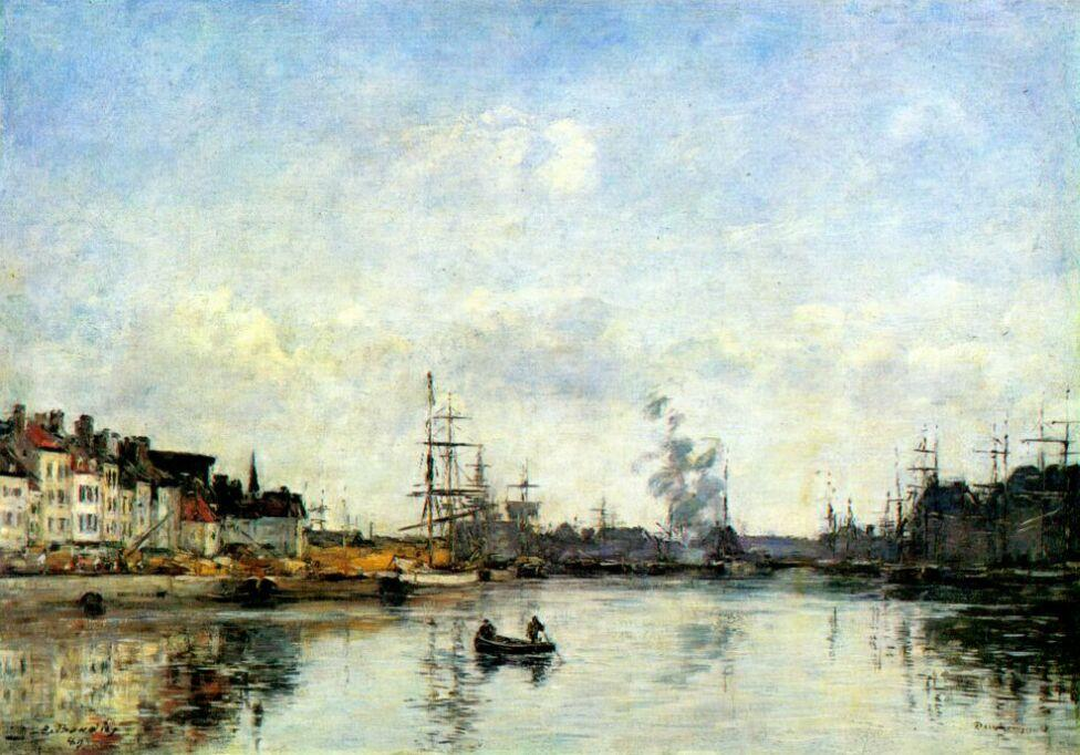 famous painting Entrance to the harbor of Eugène Louis Boudin