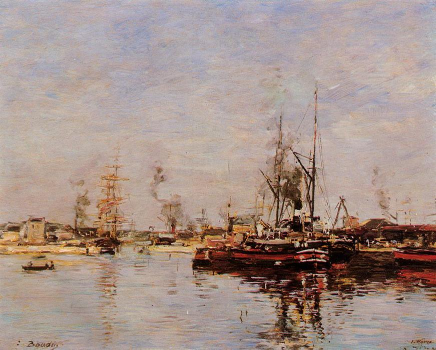 famous painting Entrance to the Port of Le Havre of Eugène Louis Boudin