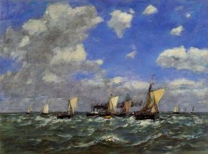 Eugène Louis Boudin - Open Sea