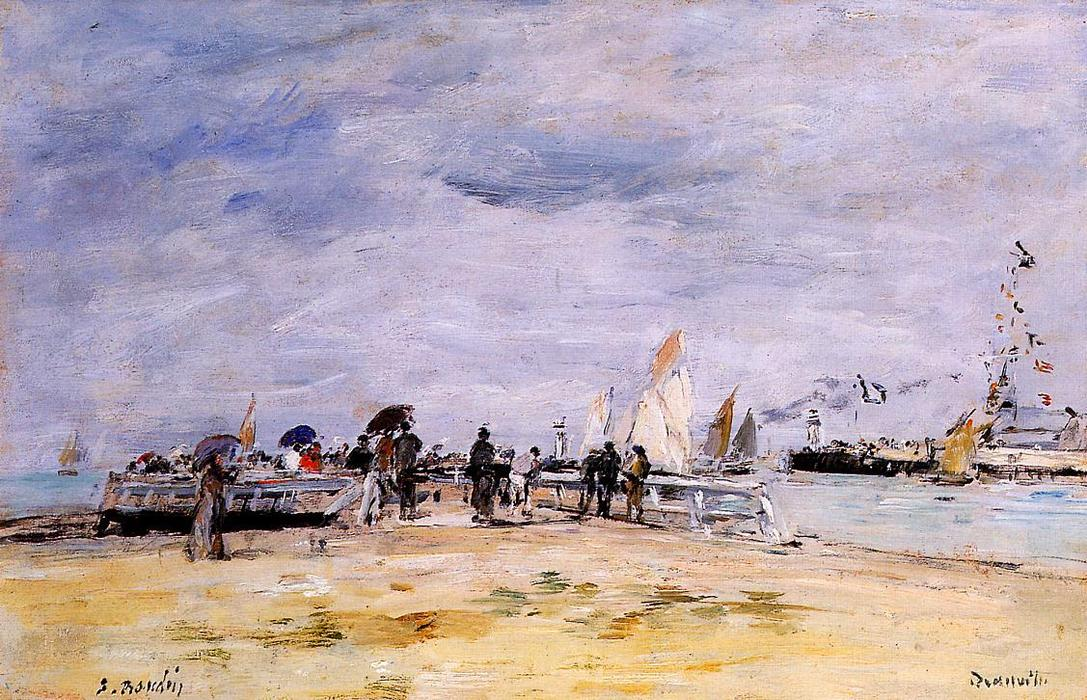 famous painting Deauville, the Jetty of Eugène Louis Boudin