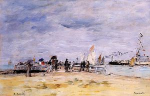 Eugène Louis Boudin - Deauville, the Jetty