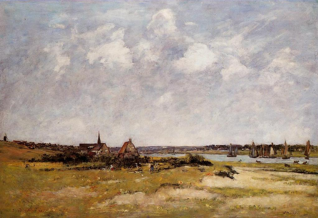 famous painting Etaples, La Canache, High Tide of Eugène Louis Boudin