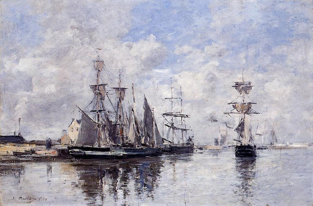 famous painting The Port of Deauville of Eugène Louis Boudin