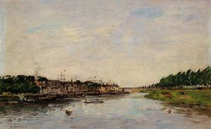 Eugène Louis Boudin - Entrance to the Port of Saint-Valery-sur-Somme