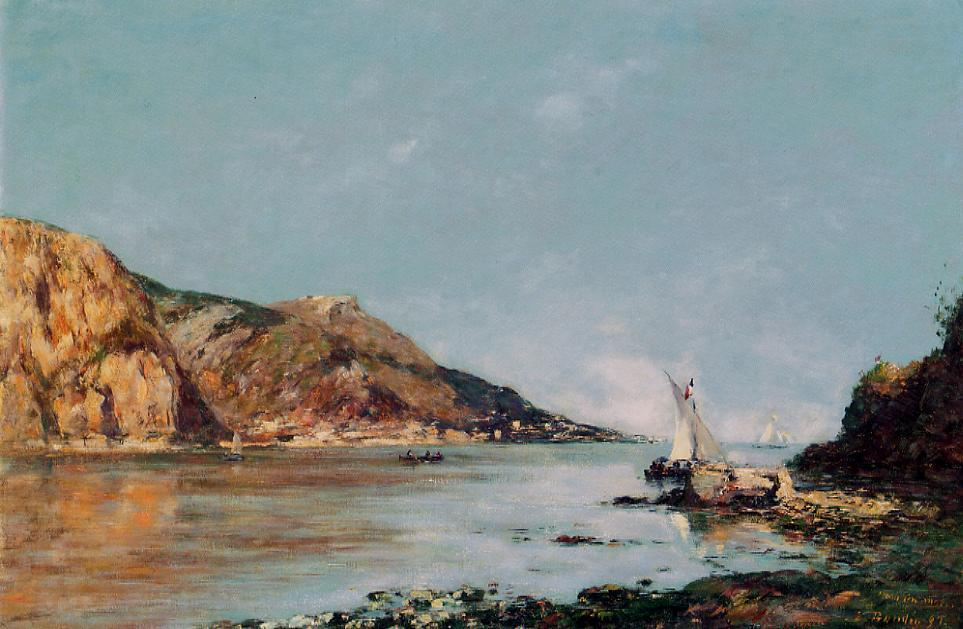 famous painting Fourmis Bay Beaulieu of Eugène Louis Boudin