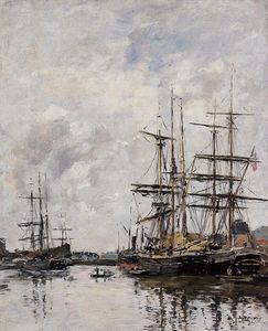 Eugène Louis Boudin - The Deauville Basin