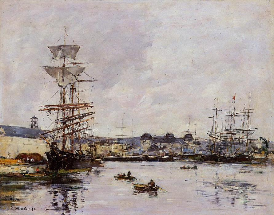 famous painting Le Havre, the Casimir Delavigne Basin of Eugène Louis Boudin