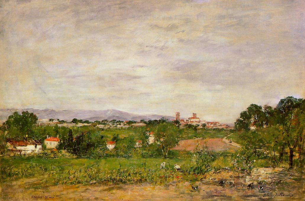 famous painting Near Antibes of Eugène Louis Boudin