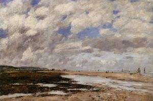 Eugène Louis Boudin - The Beach, Deauville