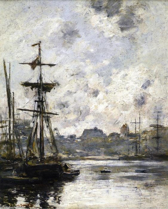 famous painting The Port, Fecamp of Eugène Louis Boudin