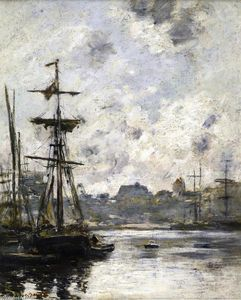Eugène Louis Boudin - The Port, Fecamp