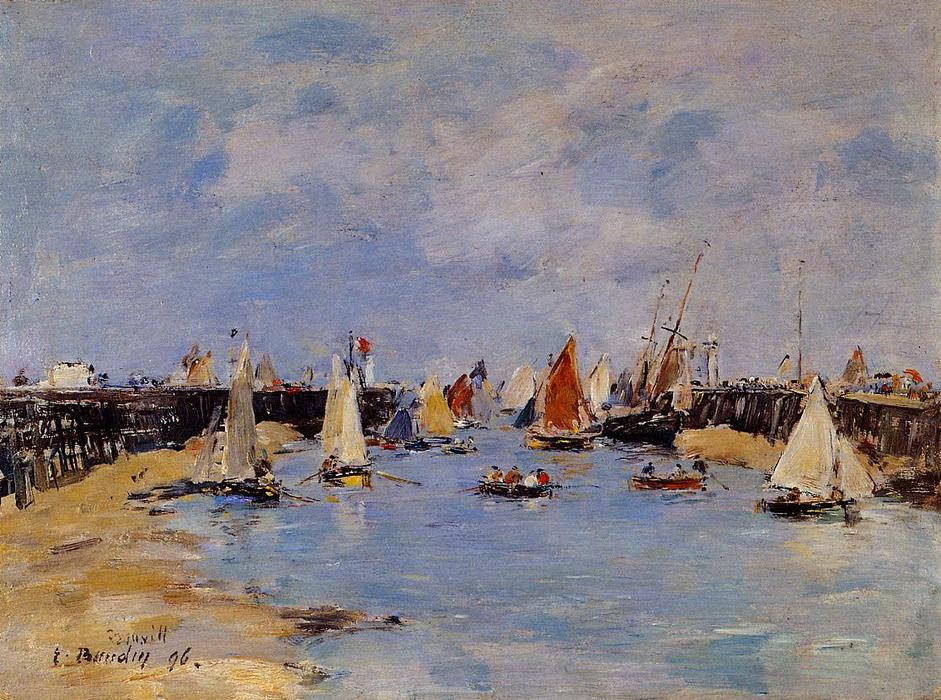 famous painting Trouville. The Jettys Low Tide. of Eugène Louis Boudin