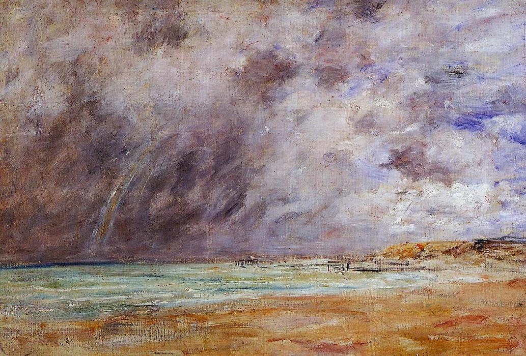 famous painting Le Havre. Stormy Skies over the Estuary. of Eugène Louis Boudin