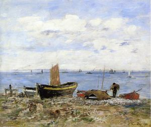 Eugène Louis Boudin - Shore at Sainte-Adresse, Low Tide