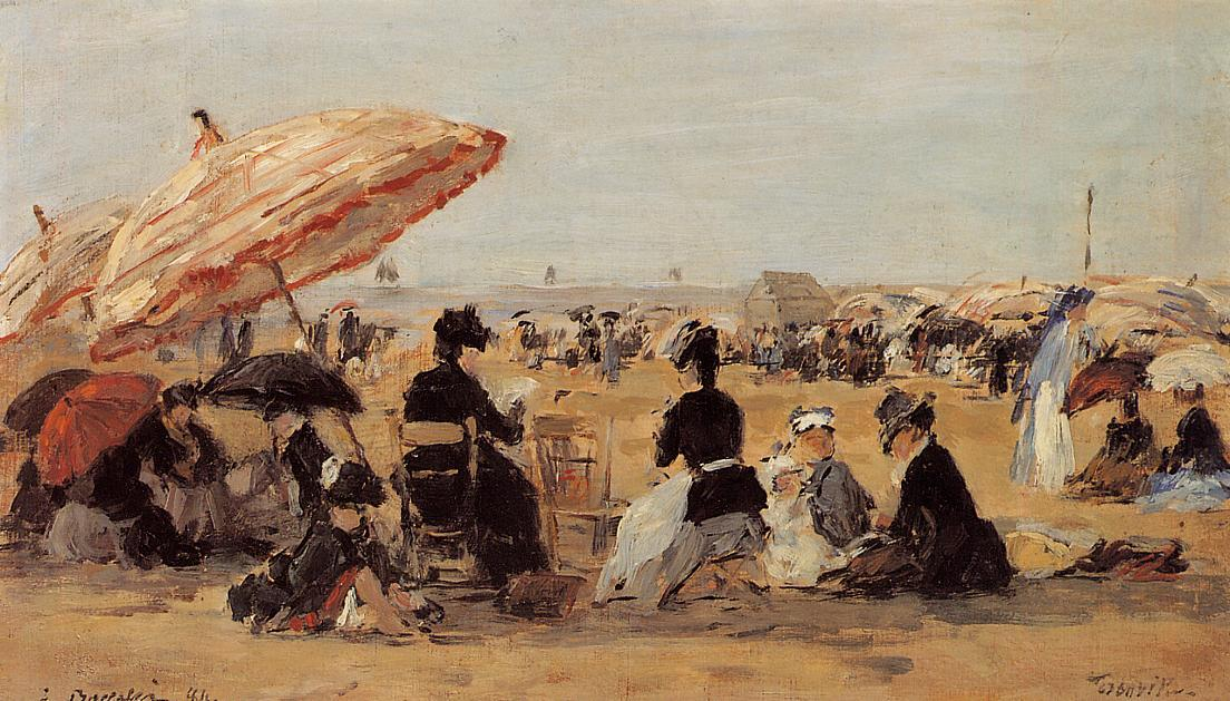 famous painting The Beach of Eugène Louis Boudin