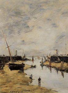Eugène Louis Boudin - Trouville. The Jettys Low Tide.