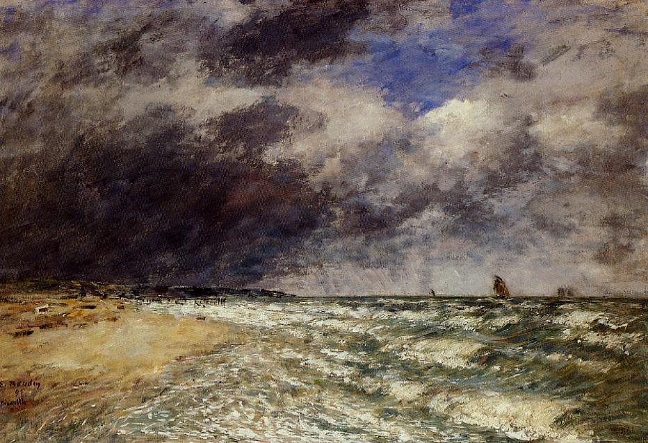 famous painting A Squall from Northwest of Eugène Louis Boudin
