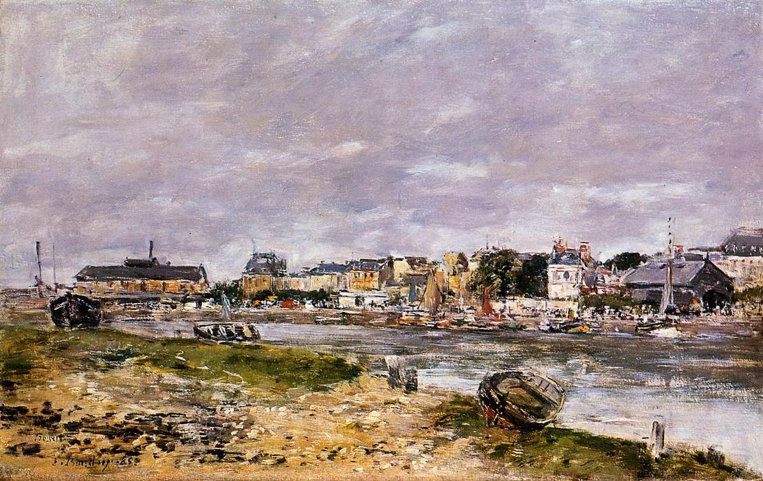 famous painting The Port of Trouville of Eugène Louis Boudin