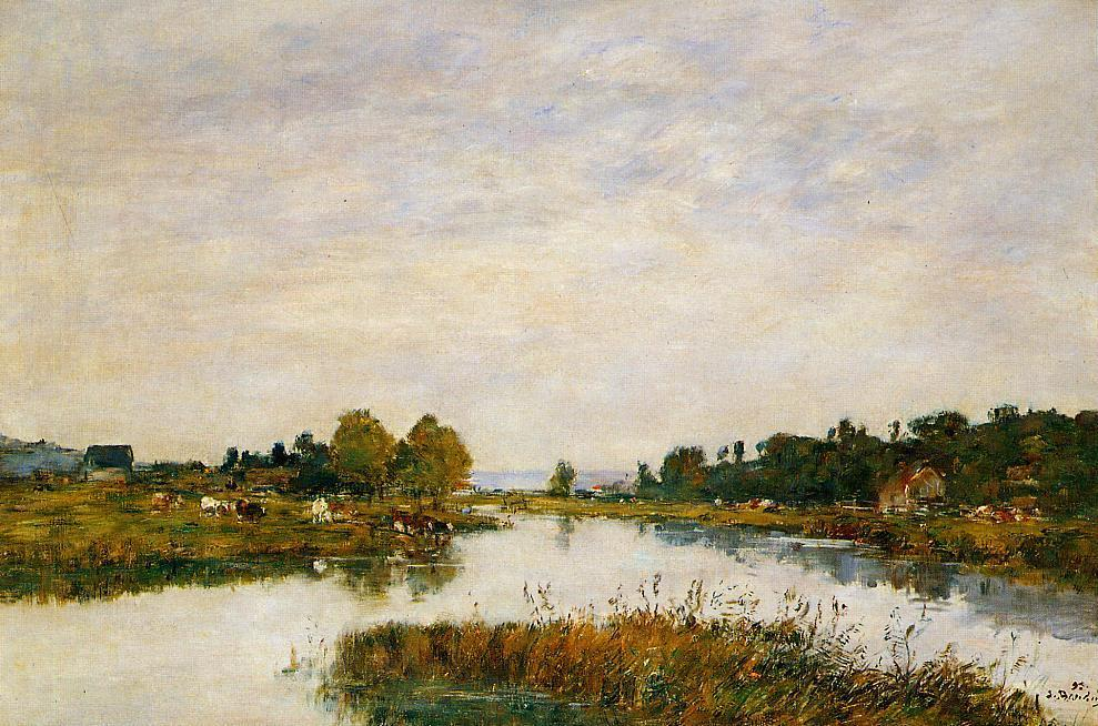 famous painting The Still River at Deauville of Eugène Louis Boudin