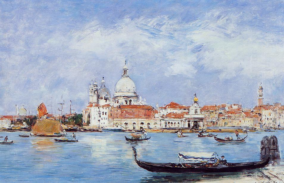 famous painting Venice, View from the Grand Canal of Eugène Louis Boudin