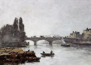 Eugène Louis Boudin - Rouen, the Pont Corneille, Fog Effect