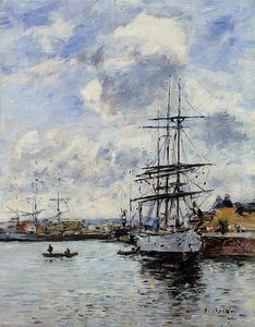 Eugène Louis Boudin - Deauville, the Harbor
