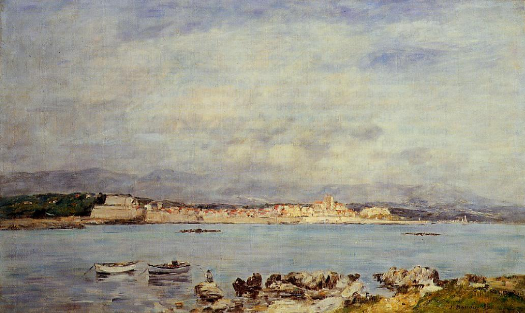 famous painting Antibes of Eugène Louis Boudin