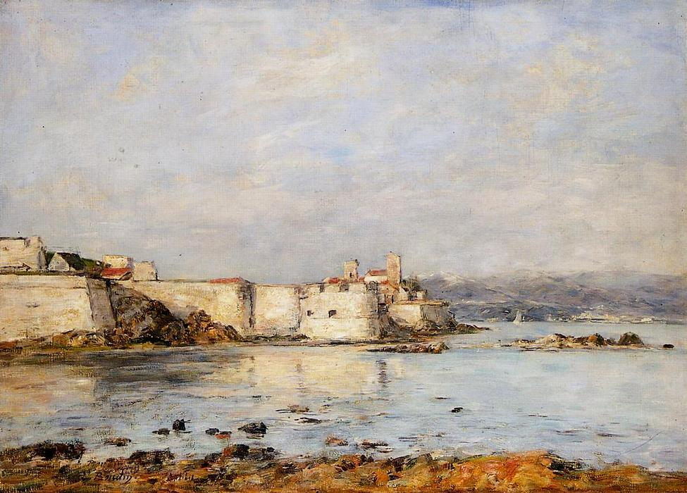famous painting Antibes, the Fortifications of Eugène Louis Boudin