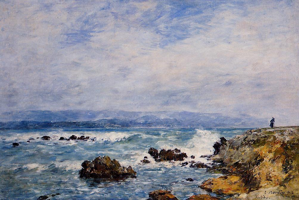 famous painting Antibes, the Point of the Islet of Eugène Louis Boudin