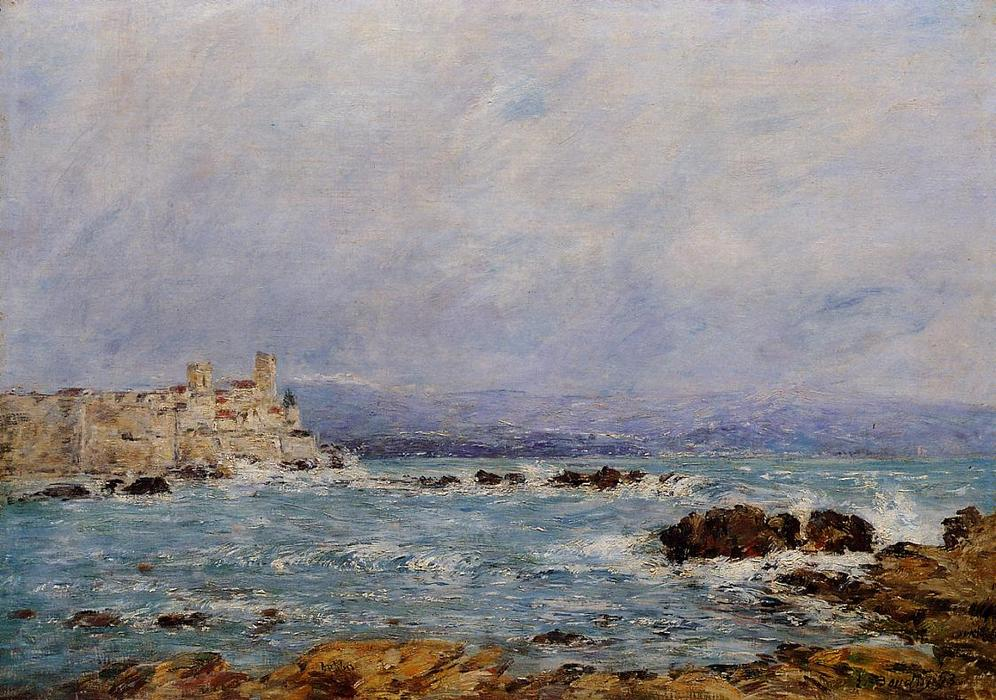 famous painting Antibes, the Rocks of the Islet of Eugène Louis Boudin