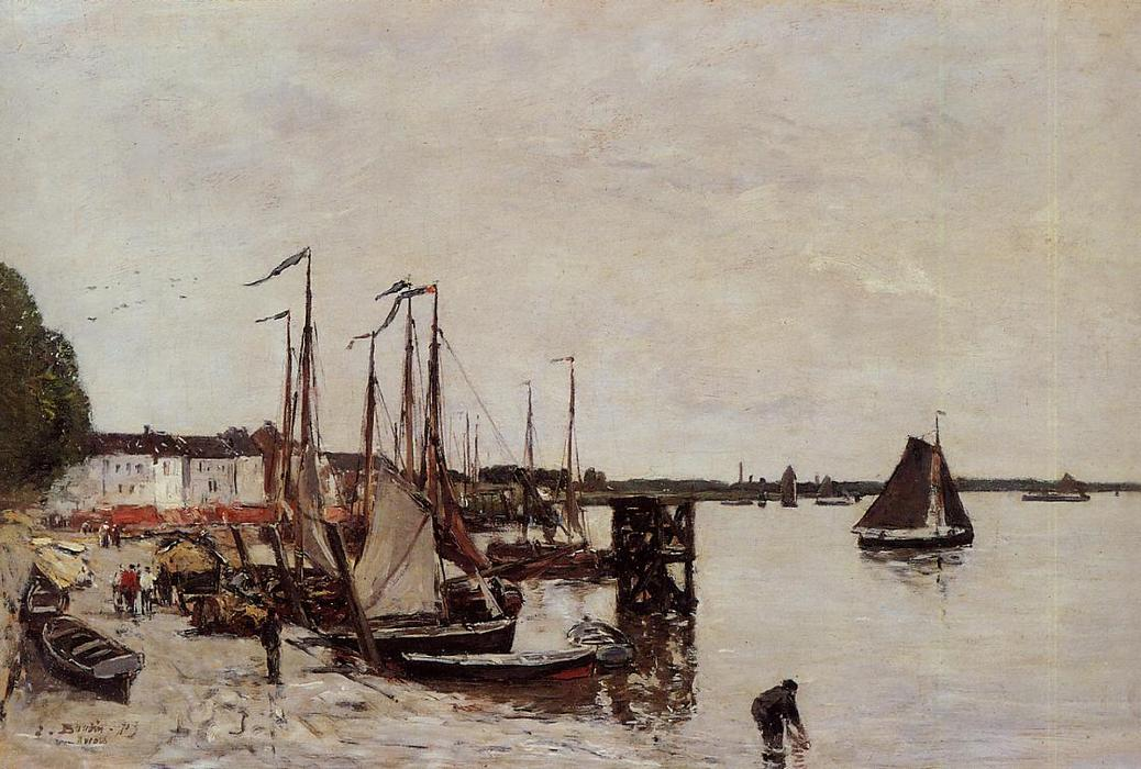 famous painting Antwerp, Fishing Boats of Eugène Louis Boudin