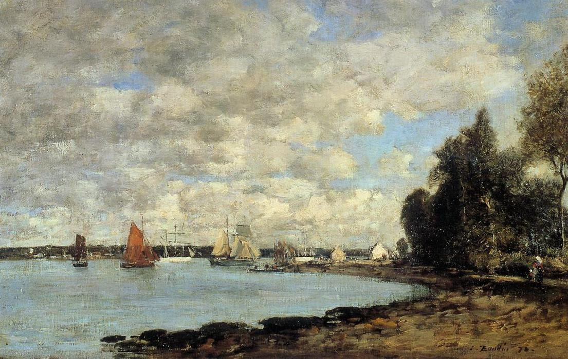 famous painting Bay of Plougastel of Eugène Louis Boudin