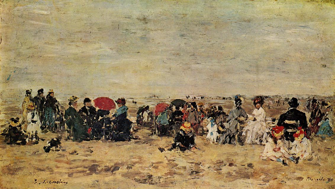 famous painting Beach scene of Eugène Louis Boudin