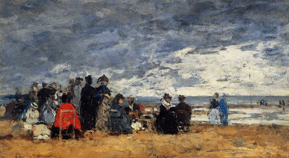 famous painting Beach Scene (14) of Eugène Louis Boudin