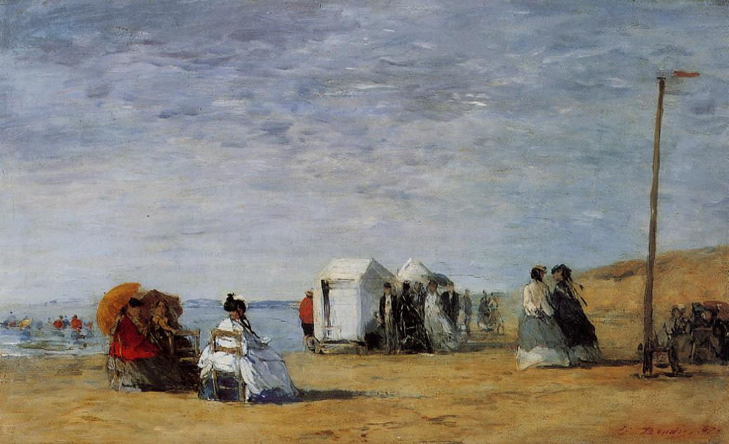 famous painting Beach Scene (15) of Eugène Louis Boudin