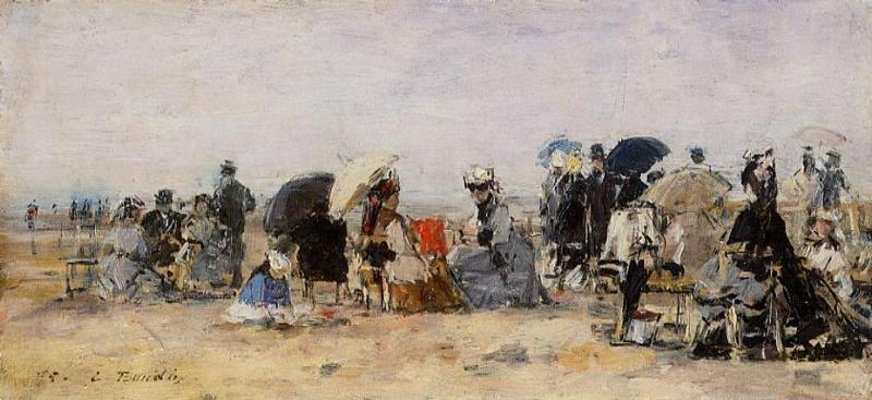famous painting Beach Scene (17) of Eugène Louis Boudin