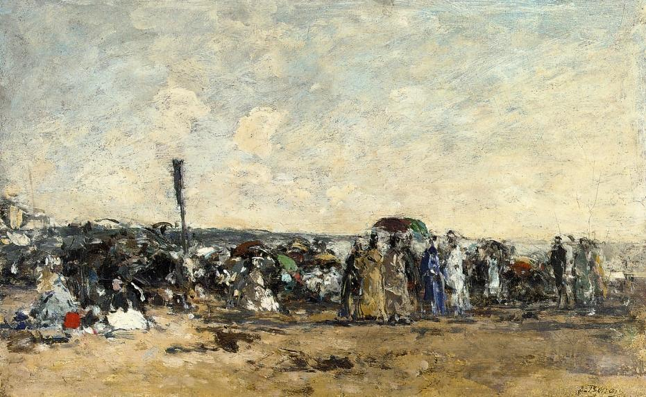 famous painting Beach Scene (18) of Eugène Louis Boudin