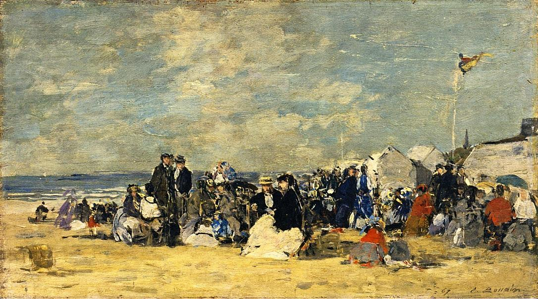 famous painting Beach Scene (19) of Eugène Louis Boudin